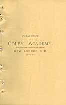 Thumbnail image of Colby Academy 1879 Catalogue cover