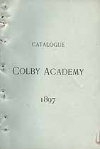 Thumbnail image of Colby Academy 1897 Catalogue cover
