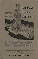 Thumbnail image of Col. Jacob Klock's Regiment 1775-84 cover