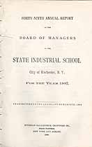 Thumbnail image of Rochester State Industrial School 1897 Report cover
