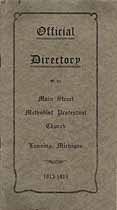 Thumbnail image of Lansing Main Street Methodist Protestant Church 1913-1914 Directory cover