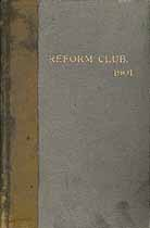 Thumbnail image of New York City Reform Club 1901 Membership cover