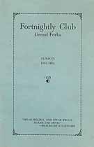Thumbnail image of Grand Forks Fortnightly Club 1931-1932 Season cover