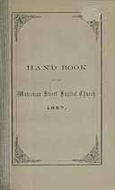 Thumbnail image of Waterman Street Baptist Church 1857 Hand Book cover