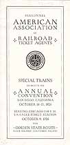 Thumbnail image of Railroad Ticket Agents Association 1926 Special Trains cover
