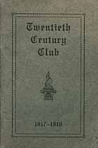 Thumbnail image of Cortland Twentieth Century Club 1917-1918 Year Book cover