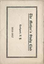 Thumbnail image of Lockport Mother's Study Club 1916-1917 Program cover