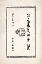 Thumbnail image of Lockport Mother's Study Club 1917-1918 Program cover