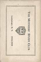 Thumbnail image of Lockport Mother's Study Club 1918-1919 Program cover