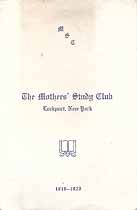 Thumbnail image of Lockport Mother's Study Club 1919-1920 Program cover