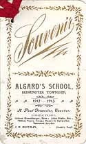 Thumbnail image of Algard's School 1912-1913 Souvenir cover