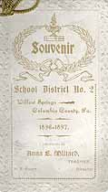 Thumbnail image of Willow Springs School 1896-1897 Souvenir cover
