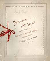 Thumbnail image of Norristown High School 1892 Commencement cover
