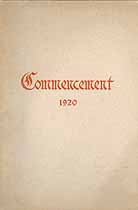 Thumbnail image of Williamsport High School 1920 Commencement cover