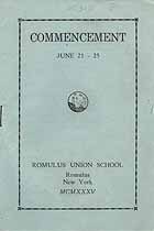 Thumbnail image of Romulus High School 1935 Commencement cover