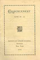 Thumbnail image of Romulus High School 1936 Commencement cover
