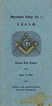 Thumbnail image of Wyandotte Lodge, A. F. & A. M., 1918 Roster cover