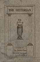 Thumbnail image of The Historian, Vol. 1, No. 1, 1916 cover