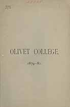Thumbnail image of Olivet College 1879-80 Catalogue cover