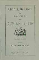 Thumbnail image of Adrian Lodge, F. & A. M. 1895 By-Laws cover