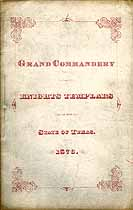 Thumbnail image of Texas Grand Lodge 1876 Proceedings cover