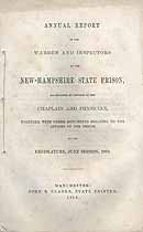 Thumbnail image of New Hampshire State Prison 1868 Report cover