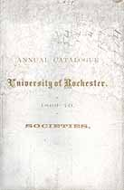 Thumbnail image of Univ. of Rochester 1869-70 Catalogue cover