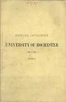 Thumbnail image of Univ. of Rochester 1882-3 Catalogue cover