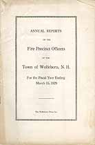 Thumbnail image of Wolfeboro Fire Precinct Officers 1929 Report cover