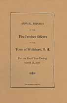 Thumbnail image of Wolfeboro Fire Precinct Officers 1930 Report cover