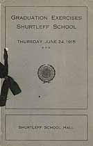 Thumbnail image of Shurtleff School 1915 Graduation Exercises cover