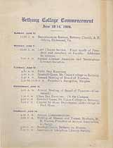 Thumbnail image of Bethany College 1906 Commencement cover