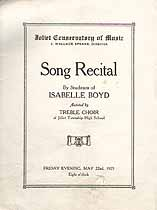 Thumbnail image of Joliet Conservatory of Music 1925 Song Recital cover