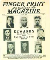 Thumbnail image of Finger Print and Identification Magazine, 1925, August Issue cover
