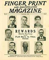 Thumbnail image of Finger Print and Identification Magazine, 1925, December Issue cover