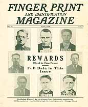 Thumbnail image of Finger Print and Identification Magazine, 1926, April Issue cover