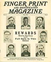 Thumbnail image of Finger Print and Identification Magazine, 1927, May Issue cover