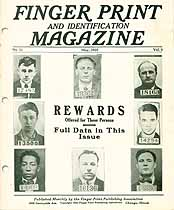 Thumbnail image of Finger Print and Identification Magazine, 1928, May Issue cover