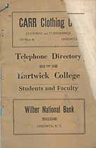 Thumbnail image of Hartwick College 1932  Telephone Directory cover