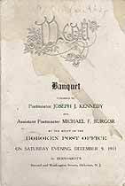 Thumbnail image of Hoboken Post Office 1911 Banquet cover