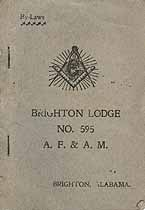 Thumbnail image of Brighton Lodge, A. F. & A. M. 1909 By-Laws cover