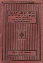 Thumbnail image of New England Association of Commercial Engineers 1924 Year Book cover