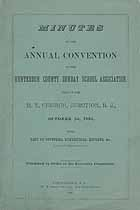 Thumbnail image of Hunterdon County Sunday School Association 1885 Minutes cover