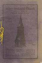 Thumbnail image of Baker Memorial Church 1929 Directory cover