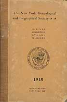 Thumbnail image of New York Genealogical and Biographical Society 1915 Members cover