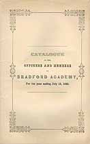 Thumbnail image of Bradford Academy 1845 Catalogue cover