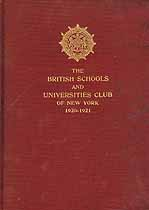 Thumbnail image of British Schools and Universities Club of New York 1920-1921 cover