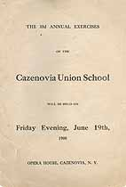 Thumbnail image of Cazenovia Union School 1908 Graduation cover