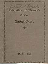 Thumbnail image of Genesee County Federation of Women's Clubs 1929-1930 cover