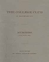 Thumbnail image of Baltimore City College Club 1917 Members cover